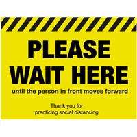 Please wait here until the person moves in front