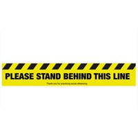 Please stand behind this line Floor