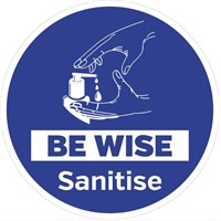 Be wise sanitise Floor