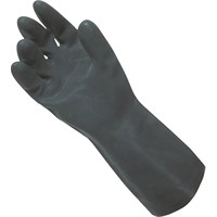 Black Heavy Duty Rubber Gloves - Large