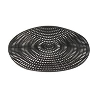 Tray Mat Rubber Black 24cm  For 28cm Tray