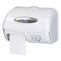 White Compact System Toilet Paper Dispenser