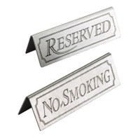Steel 'Reserved' Table Sign