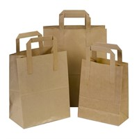 Carrier Bag Paper Brown W/handle 7 X 3.5 X 8.5""