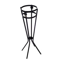 Black Wrought Iron Bucket Stand