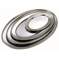 Tray Oval Stainless Steel 25.5 x 18cm