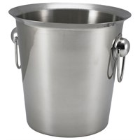 Wine/champ Bucket Steel Rhndls 19cm D