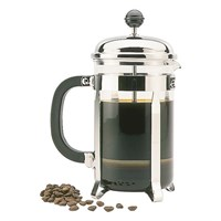 Chrome 6 Cup Cafetiere Coffee Plunger