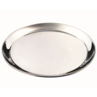 Round Shallow Stainless Steel Tray 35cm