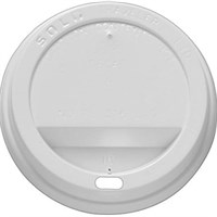 Lid Sipping For Solo 8 Oz Hot Cup Paper White