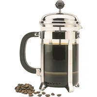 Chrome 8 Cup Cafetiere Coffee Plunger