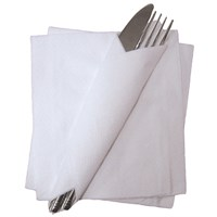 1 Ply White Soft Tissue Napkins 30cm