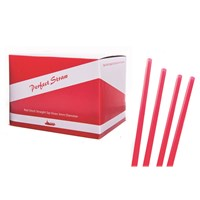 Red Sipping Straw 14cm