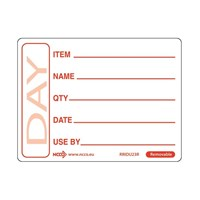 Label Use By Red Removable 50 x 65mm