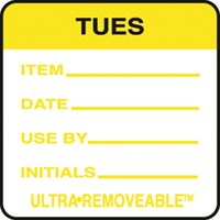 Removable Food Rotation Label Tuesday