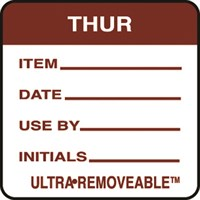 Removable Food Rotation Label Thursday