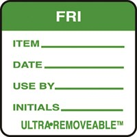 Removable Food Rotation Label Friday