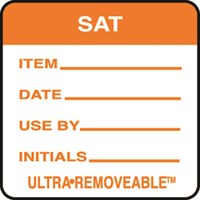Removable Food Rotation Label Saturday