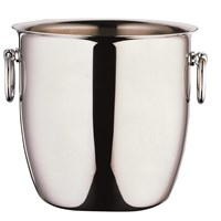Steel Curved Champagne Bucket With Handles 17cm