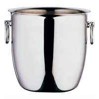Steel Curved Champagne Bucket With Handles 22cm