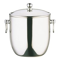 Steel Curved Double Walled Ice Bucket 1.3L
