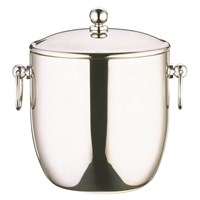 Steel Curved Double Walled Ice Bucket 3L