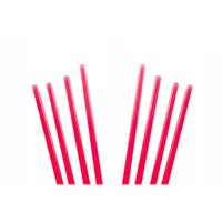 Straw 14cm Cocktail Red 4mm Dia