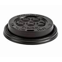 Lid Dome Sip Black For 8/9oz Hot Cup