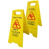 Safety Sign Foling Caution Wet Floor Yellow