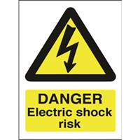 Sign -electric Hazard Wall Sign
