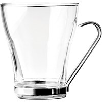 Large Coffee Glass With Chrome Holder 31cl (11oz)