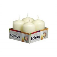 White Pillar Candle 6cm H 4cm D