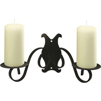 Black Scroll Wall Sconce Pillar Candle Holder