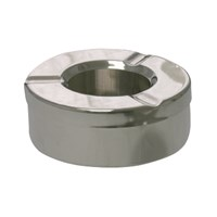 Steel Round Windproof Ashtray 9cm (3.5'')