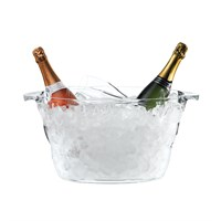 Clear Oval Bottle Display Cooler