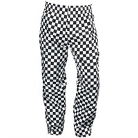 Big Blue Check Chef's Trousers Small