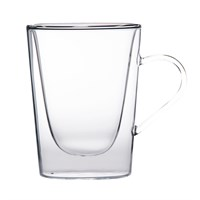 Glass Clear Fluted Cappuccion/tea Cup 10.5oz 30cl