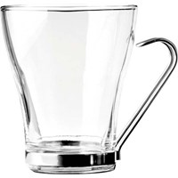 Cappuccino Glass With Chrome Holder 23.5cl (8oz)