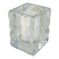 White Refill Clear Glass Cube Light