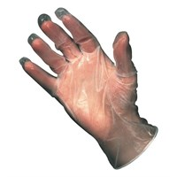 Clear Powered Vinyl Gloves Large