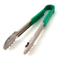 Green Handle Stainless Steel Tongs 31cm (12'')