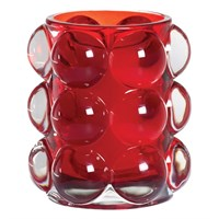 Bubble Candle Light Red 10cm x 8.4cm w