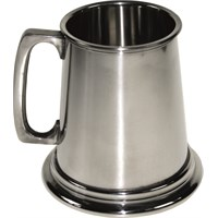 Plain Square Handle Pewter Tankard 14.2cl (5oz)